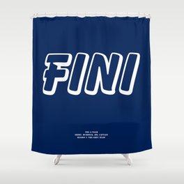 Howlin' Mad Murdock's 'Fini' shirt Shower Curtain