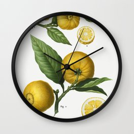 Vintage Lemon Tree Poster Wall Clock