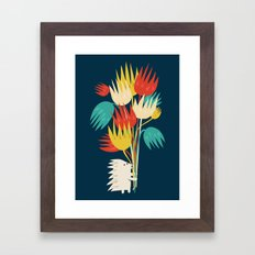 Hedgehog with flowers Framed Art Print