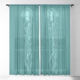 Ghost Jellyfish Sheer Curtain
