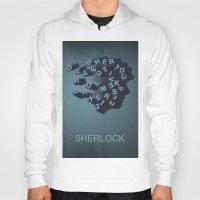 sherlock holmes Hoodies featuring Sherlock Holmes by HomePosters