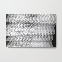 Multiplied Parallel Lines No.: 02. Metal Print