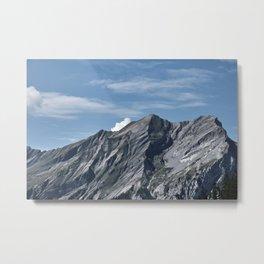 "Travel photography print ""Rugged mountain peaks Swiss Alps"" photo art made in Switzerland. Print art Metal Print"