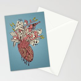 Heart War Stationery Cards