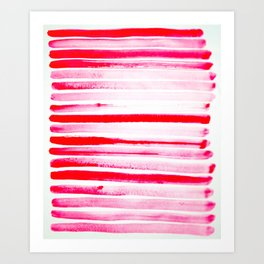 Christmas Candy Cane Red Stripe Art Print