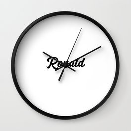 Ronald Custom Text Birthday Name Wall Clock