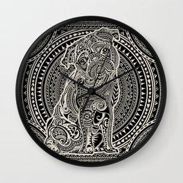Polynesian Pug Wall Clock