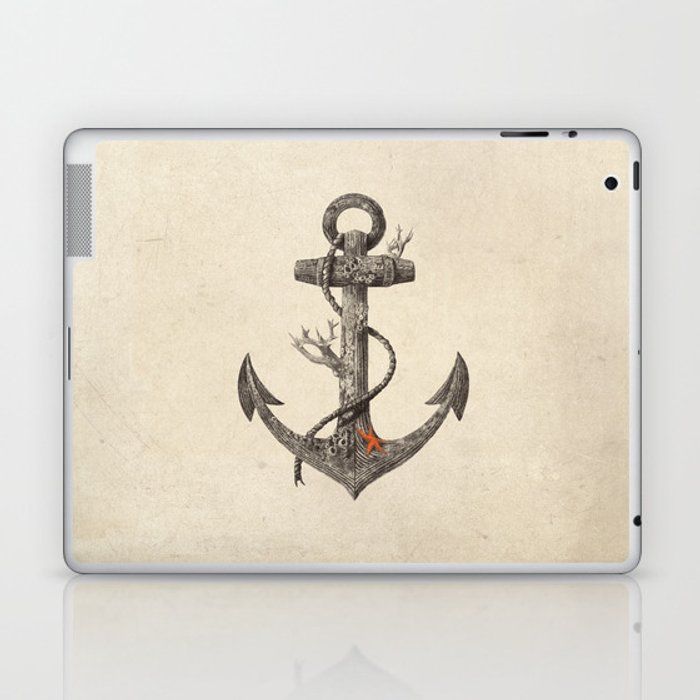 Lost at Sea - mono Laptop & iPad Skin