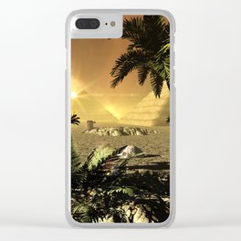 Pyramid in the sunet Clear iPhone Case