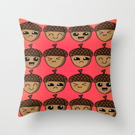 Adorable Acorns Throw Pillow