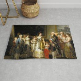 "Francisco Goya ""Charles IV of Spain and His Family (La familia de Carlos IV)"" Rug"