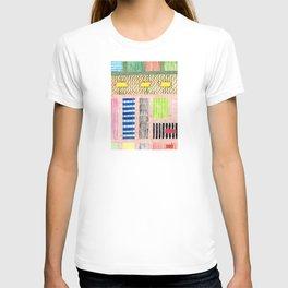 Friendly Pattern Mix On Pink T-shirt