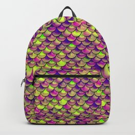 Purple Green Scales Backpack