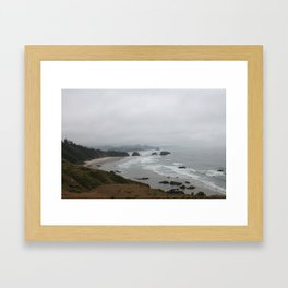 The Coast From Ecola Framed Art Print
