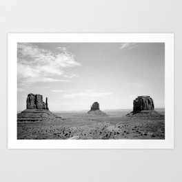 Monument Valley // Three Sisters Art Print
