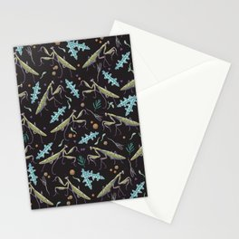 praying mantis in the dark garden Stationery Cards