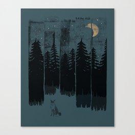 A Fox in the Wild Night... Canvas Print