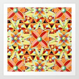 Boho Chic Suzani Star Art Print