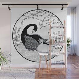 Black Swan and Moonlark Wall Mural