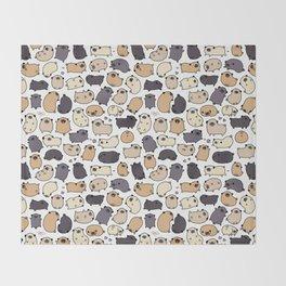 Pug Life Doodle Throw Blanket