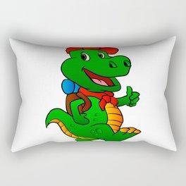 Dino hiker. Rectangular Pillow