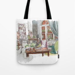 Will and Grace - Grace Adler Designs Studio Watercolor Painting Tote Bag
