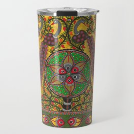 Peacocks With Fishes Travel Mug