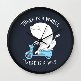 There is a whale Wall Clock