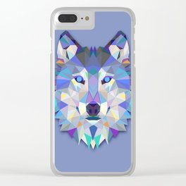 Ice Wolf Clear iPhone Case
