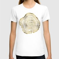 pen T-shirts featuring Gold Tree Rings by Cat Coquillette