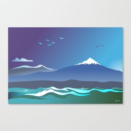 Mont Taranaki From The Sea Canvas Print