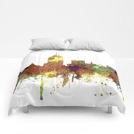 Fresno, California Skyline SG - Safari Buff Comforters