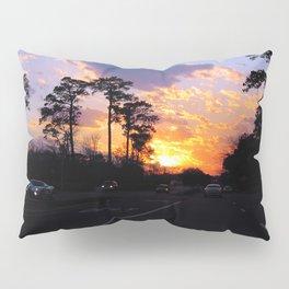 Highway Sunset Pillow Sham