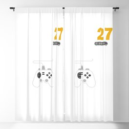 Level 27 Complete Birthday Gift TShirt Celebrate 27th Wedding Blackout Curtain
