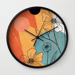 Vibrant Flower Design 2 Wall Clock