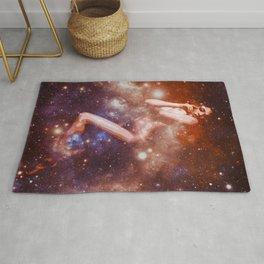Galaxy Woman Earth Tones Rug