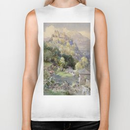 Overlooking the Hohenwerfen Fortress in Salzburg by Edward Theodor Compton Biker Tank