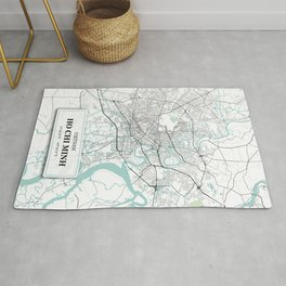 Ho Chi Minh, Vietnam City Map with GPS Coordinates Rug