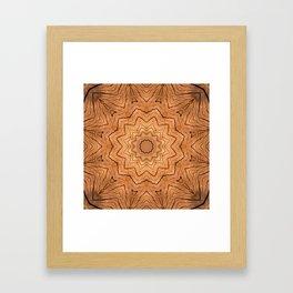 Wooden star ring kaleidoscope Framed Art Print
