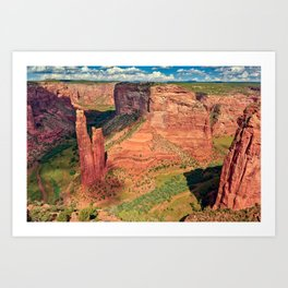 Spider Rock in Canyon De Chelly Arizona. Art Print