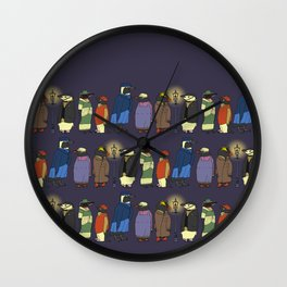 Victorian Penguins Wall Clock