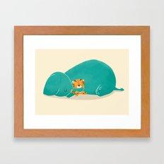Tiger Mother Framed Art Print