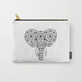 Mandala Elephant Illustration Carry-All Pouch