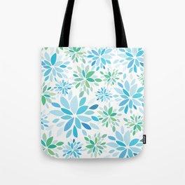 Nature's Healing Mandala Blue Tote Bag