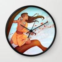 pocahontas Wall Clocks featuring Pocahontas by ribkaDory