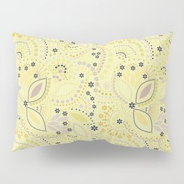 Placer dots , yellow Pillow Sham
