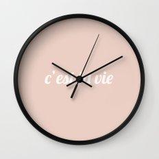 C'est La Vie II Wall Clock