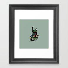 StarWars Bobba Fett Pixel Framed Art Print