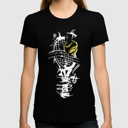 Tennis Ball Hits Abstract Decayed Gift T-shirt