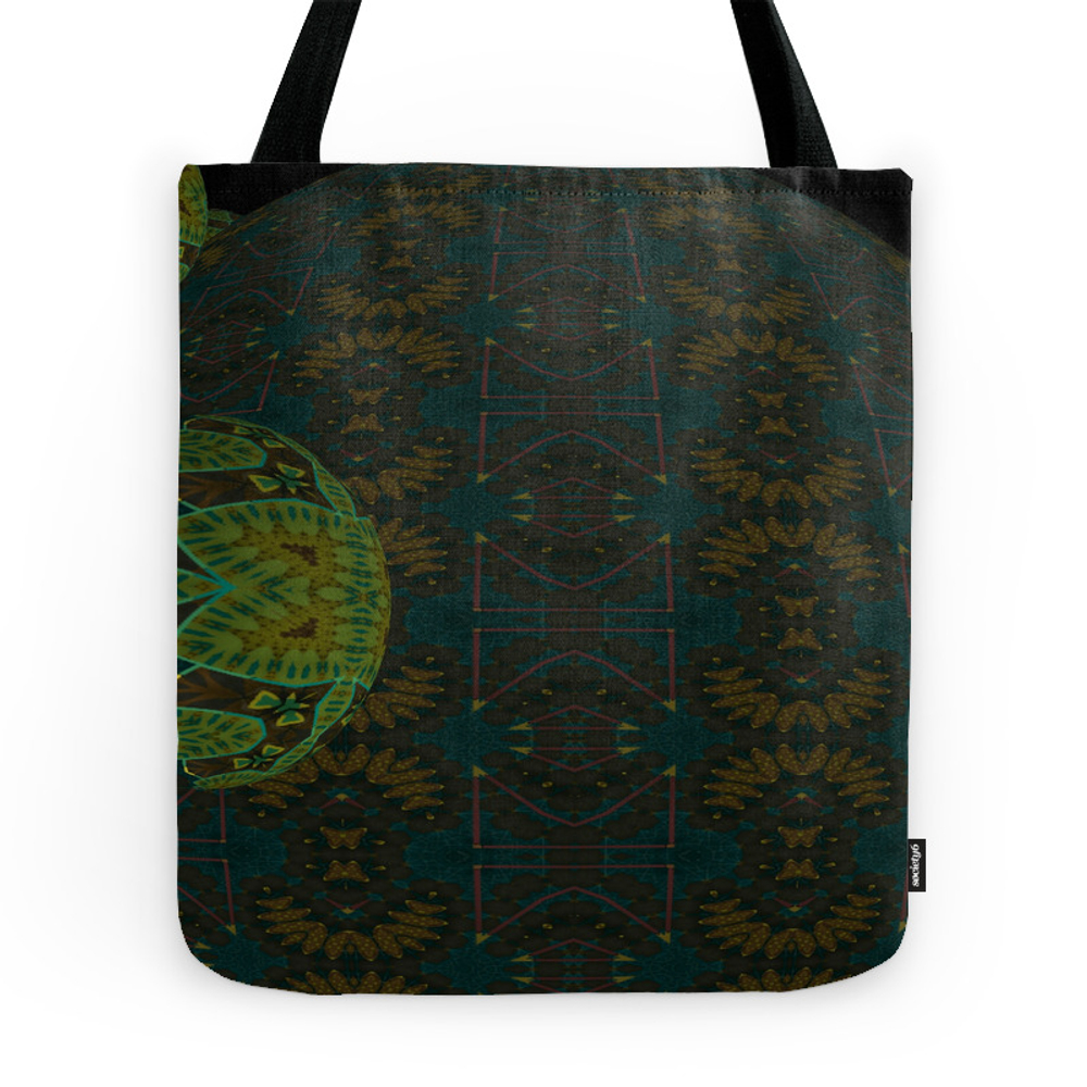 Green Spheres 3 Tote Purse by dkrueger (TBG7296821) photo